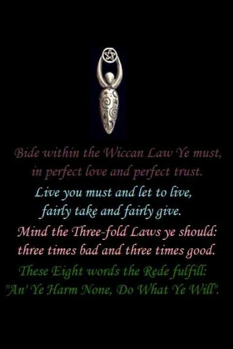 wiccan quote and rule wiccan pinterest