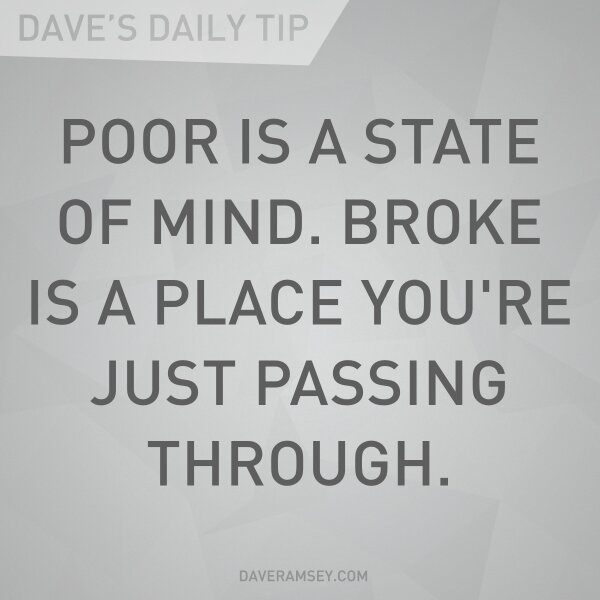 applying a dave ramsey quote to your health be pain free