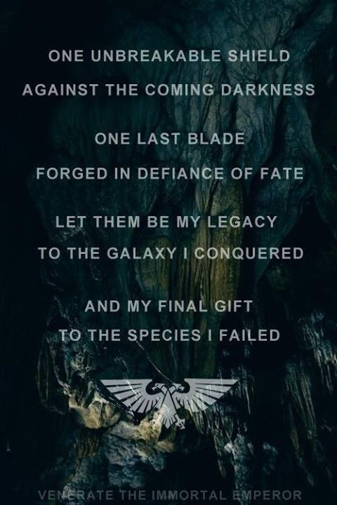 the emperor regarding the grey knights warhammer