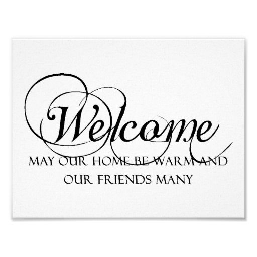 welcome to our home quote poster zazzle home quotes