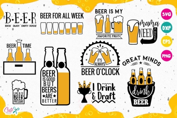 funny beer quotes bundle