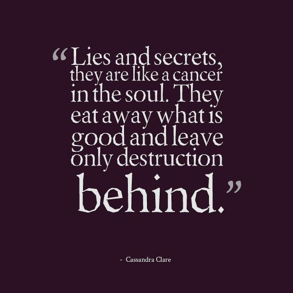 secrets and lies quotes quotesgram