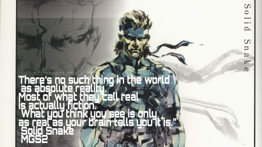 mgs2 solid snake quote snake quotes quotes reality