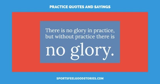 practice quotes and sayings sports feel good stories