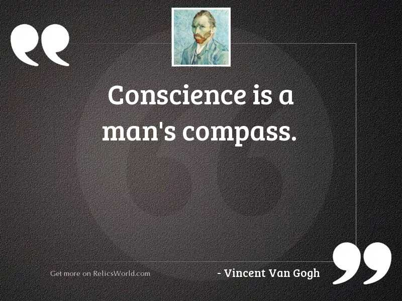 conscience is a mans inspirational quote vincent