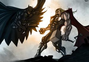 thor_vs__batman_by_therisingsoul-d5p5af2