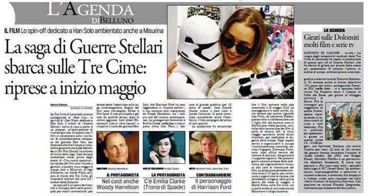 Han Solo: anche l'Italia ospiterà le riprese dello spin-off di Star Wars