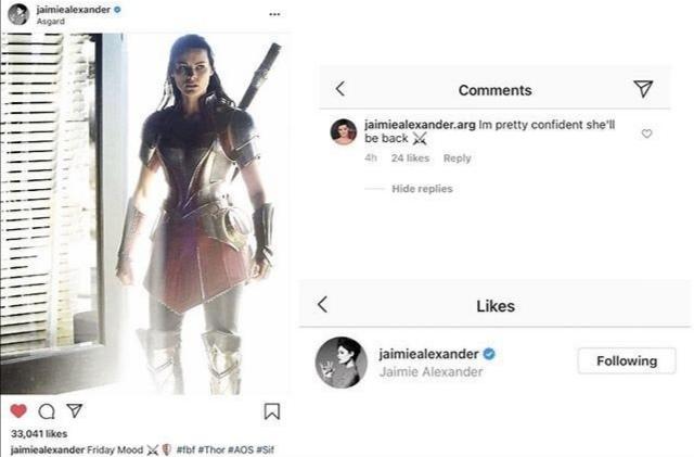 Marvel Studios Jaimie Alexander Lady Sif
