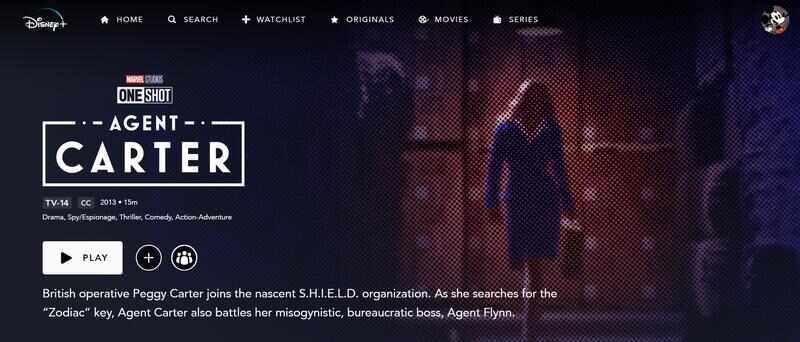 Agente Carter Disney+
