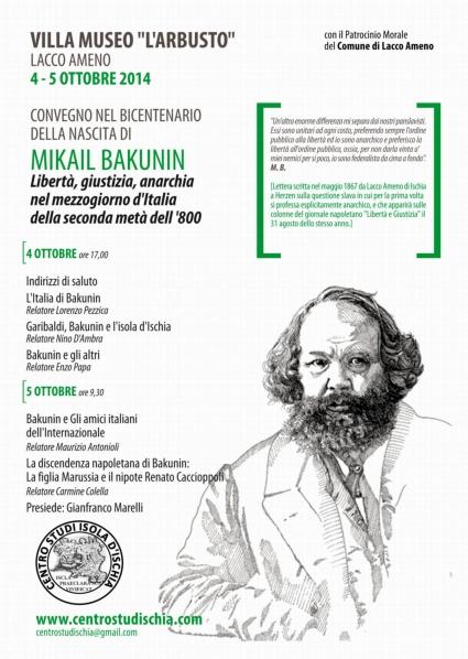 Locandina Convegno Bakunin