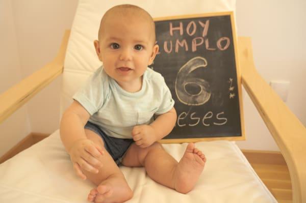 Baby on his birthday
