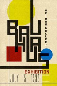 Manifesto Bauhaus - per l'exhibition a Weimar del 1932