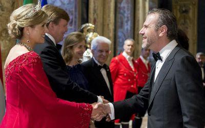 Ernesto Pravisano, Presidente del COMITES Olanda, ha salutato i Reali dei Paesi Bassi presso il Quirinale