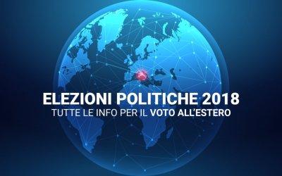 Elezioni Politiche 2018 – Tutte le info per il voto all'estero