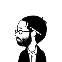 Adrian Tomine - self-sketch