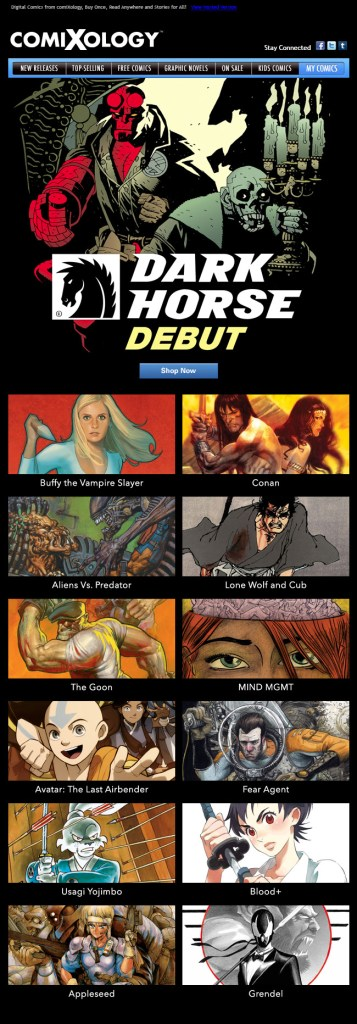 Dark Horse Comics Comes To ComiXology