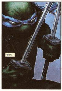 BATMAN • TNMT #1 Leo close-up