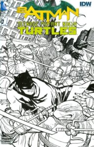 BATMAN • TNMT #1 Midtown exclusive Cliff Chiang B&W variant