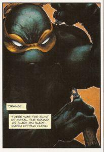 BATMAN • TNMT #1 Mikey close-up