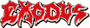 Exodus logo - jagged red