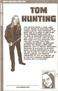 Exodus member 2 - Tom Hunting
