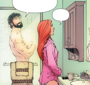 Bruce Wayne shower scene