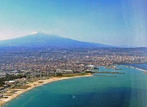 Catania coastline