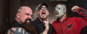 Greg surrounded by Slayer & Slipknot