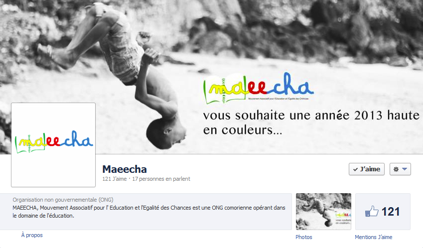 couverture facebook association Maeecha