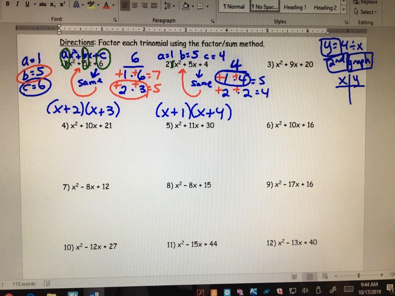 Algebra 1b Period 3 Amp Period 4 Lab Amp Period 7