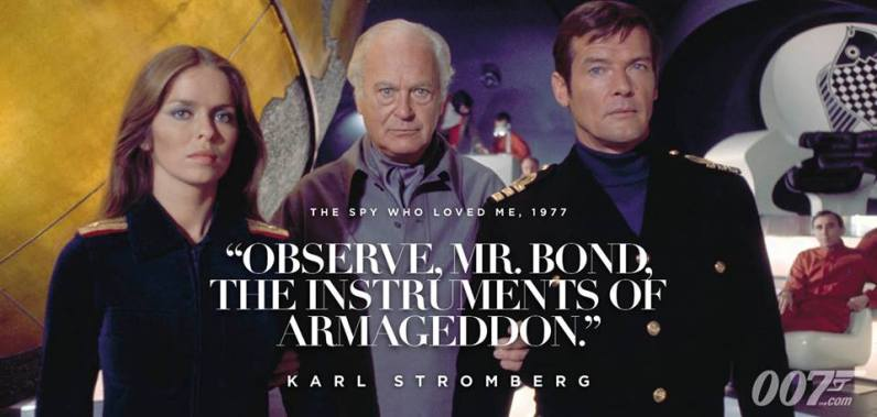 Observez Mr. Bond, les instruments de l'Apocalypse !