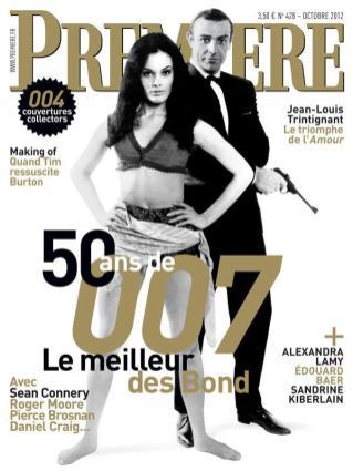 Première (qui propose plusieurs couvertures pour les 50 ans de James Bond