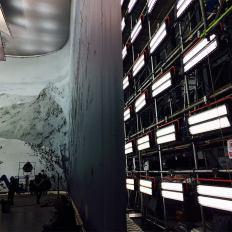 Tournage sur la Q Stage des studios Pinewood - 21 Janvier