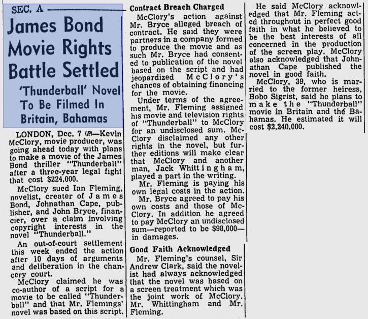 Toledo Blade - 8 décembre 1963