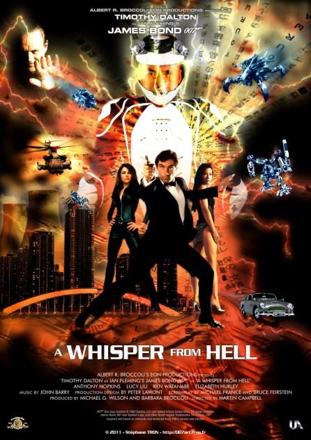 """""""A Whisper of Hell"""" fan-art réalisé par 007 Art avec notamment Anthony Hopkins dans le rôle du méchant"""