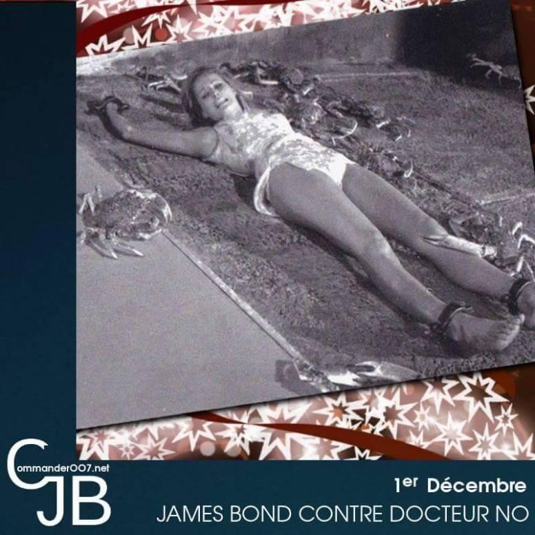 La fameuse scène de James Bond contre Docteur No, qui aurait du nous montrer Honey Rider face au supplice de crabes géants. Les crabes en question étaient hélas presque morts de congélation lors de la scène qui sera supprimée. Dommage, pour une idée originale venant du livre de Fleming. https://www.commander007.net/1962/10/docteur-no-les-scenes-coupees/