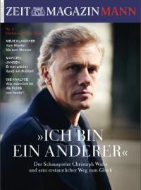 Christoph Waltz dans le magazine Mann de Die Zeit