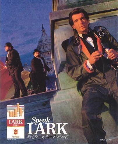 1992 - Publicité pour Lark avant Goldeneye