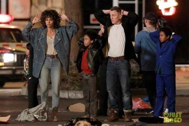 Halle Berry et Daniel Craig sur le tournage de Kings.
