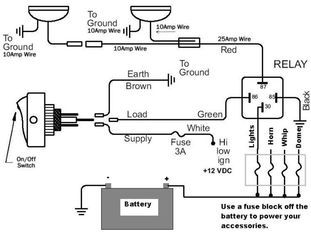 off road light wiring diagram with relay 7 3 powerstroke multiple blog data lights can am commander forum