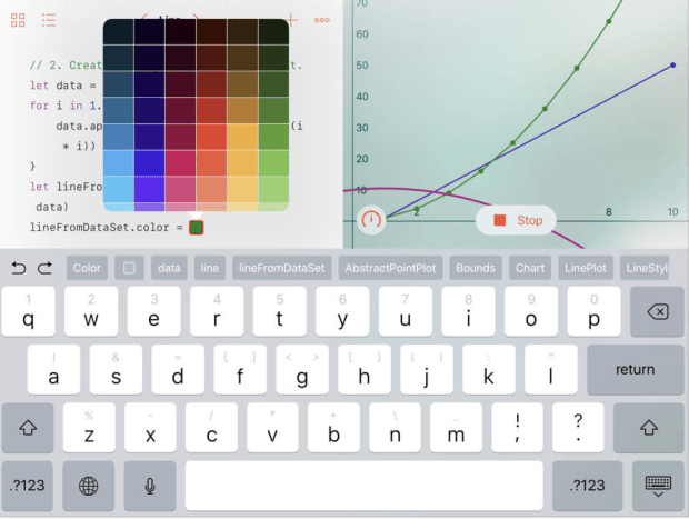 swift playgrounds graph