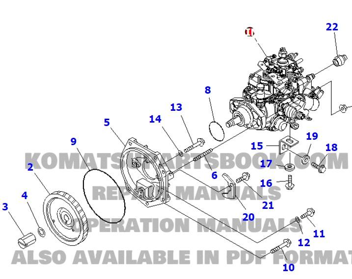 POMPA INJECTIE KOMATSU WA65-6