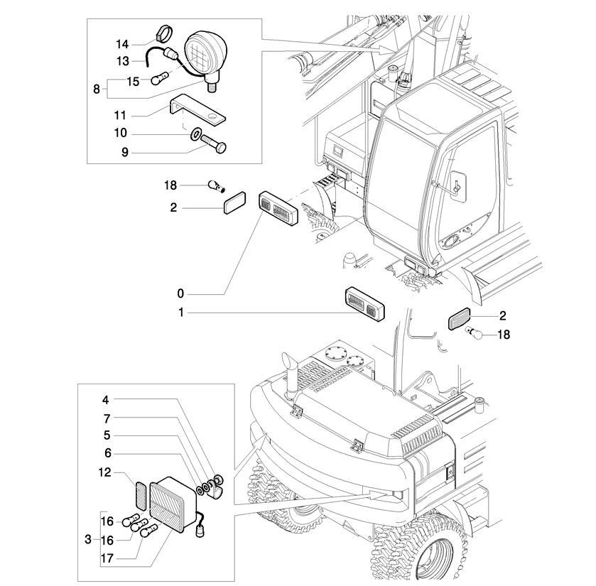 LAMPA ILUMINARE FIAT HITACHI EX165W