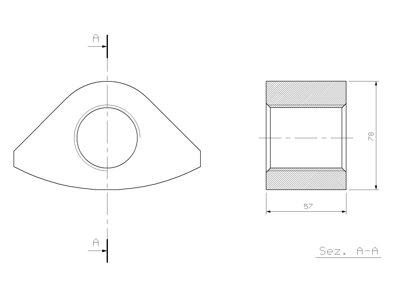 Nut for tensioning bolt, KRUPP, HM 2000, hydraulic hammer