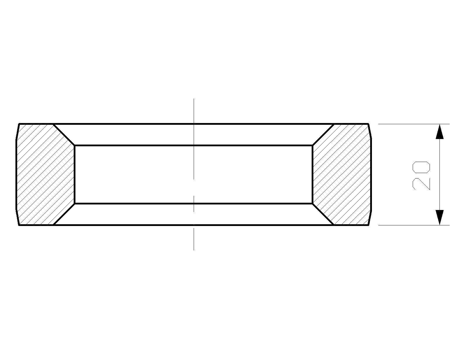 Intermediate part, ATLAS COPCO, LHB 200, hydraulic hammer