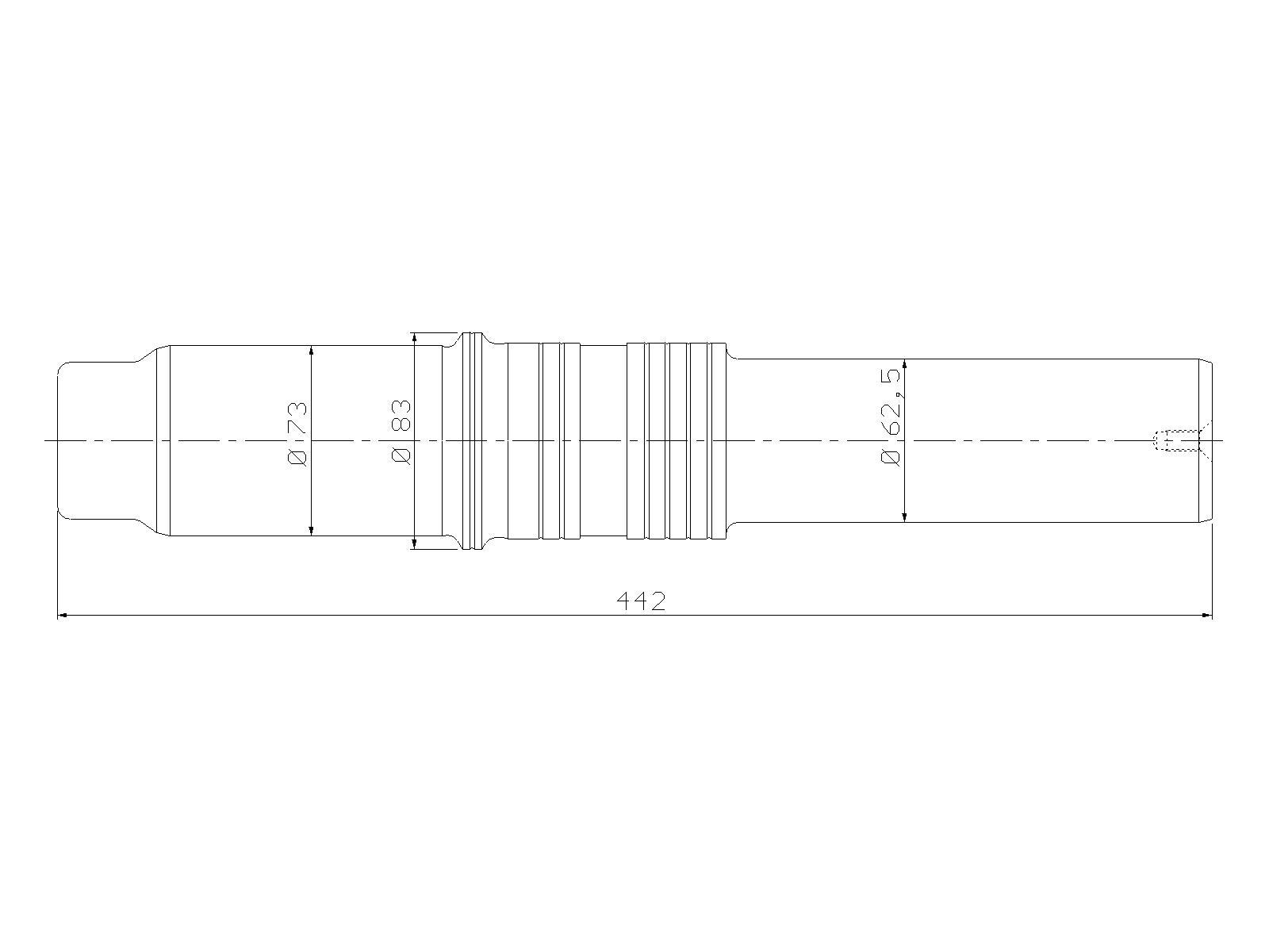 Piston, ATLAS COPCO, SBC 610, hydraulic hammer, spare parts
