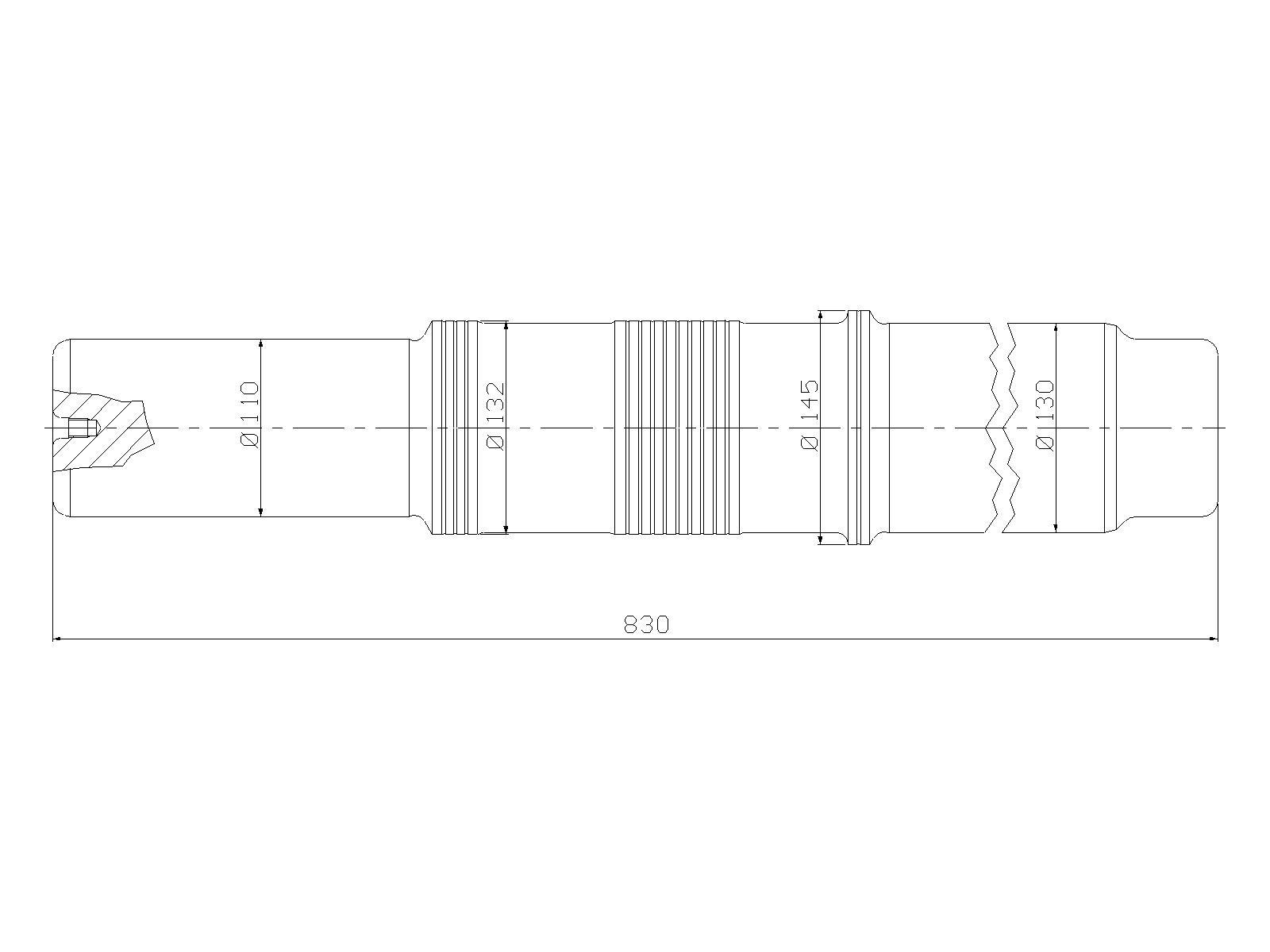 Piston, ATLAS COPCO, TEX 2000 H, hydraulic hammer, spare parts