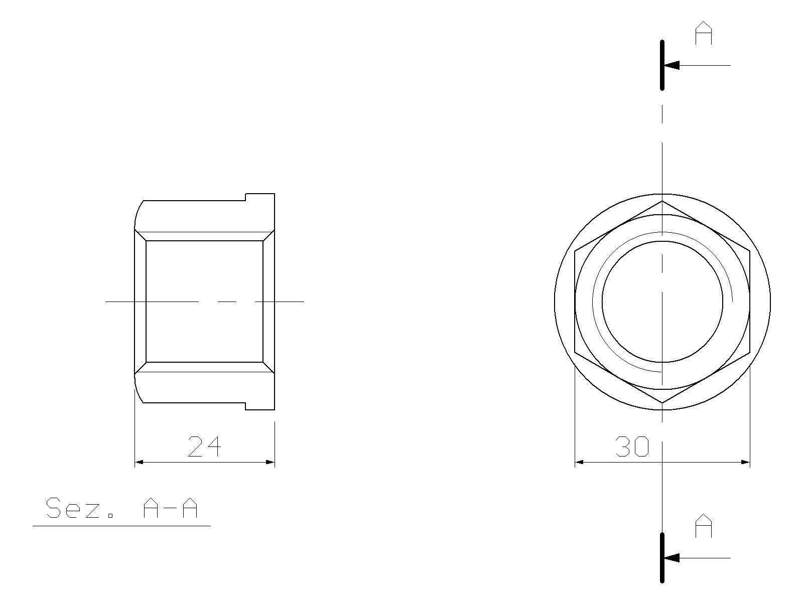 Nut for side bolt, ATLAS COPCO, TEX 250 H, hydraulic
