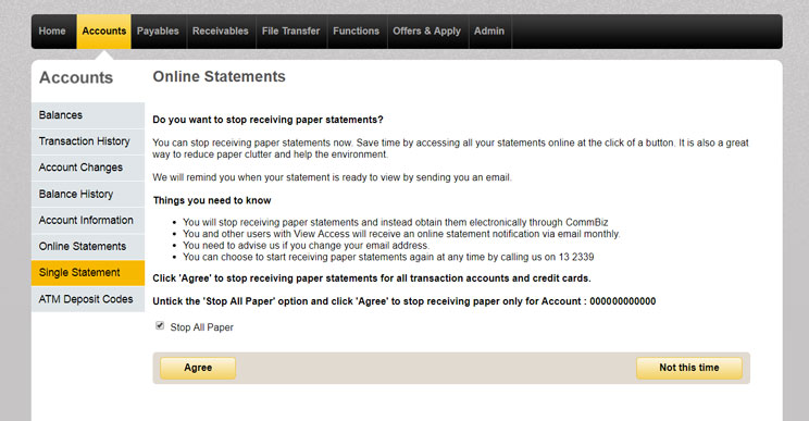 How To View Statements And Stop Paper Ones Commbank