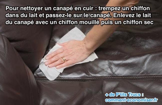 comment nettoyer un canap en cuir
